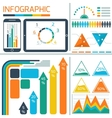 Template infographic for IT technology vector image