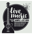 acoustic guitar for live music vector image