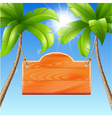 for a summer holiday by the sea vector image
