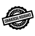 Commercial Insurance rubber stamp vector image
