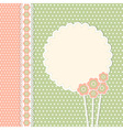 Vintage template with flowers vector image