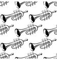 Seamless pattern of trumpets vector image vector image