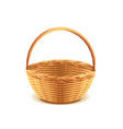 wicker basket isolated vector image