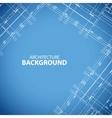 Blueprint building print vector image vector image