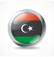 Libya flag button vector image vector image