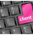 Client key in place of enter key - business vector image vector image