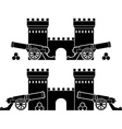 Castle and guns with kernels vector image