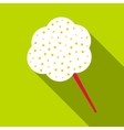Cotton candy icon flat style vector image