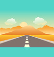 empty road heading to the mountains vector image