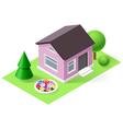 Isometric home vector image