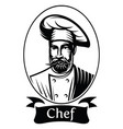 monochrome with chef in frame vector image