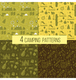 Set of Seamless Camping Patterns vector image