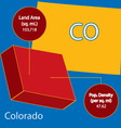 Colorado 3D info graphic vector image