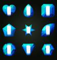 set of gemstones for game vector image