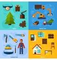 Woodworking Industry Set vector image