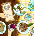 estaurant food vector image vector image