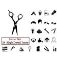 icon set barber vector image
