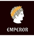 Roman emperor Julius Caesar in wreath vector image