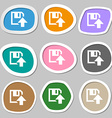 floppy icon Flat modern design Multicolored paper vector image