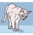 pixel cat background vector image