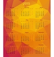Abstract 2015 year polygonal calendar vector image