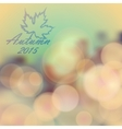 Autumn day theme background vector image
