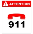 emergency call 911 vector image