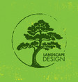 landscape design eco organic tree sign rough vector image