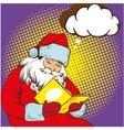 Santa claus reading fairy tales book vector image
