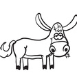 simple black and white donkey vector image
