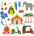 Thailand travel vector image