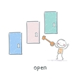 The key opens the door vector image