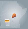 uganda information map vector image