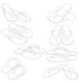 Flip flops silhouette vector image