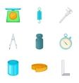 Measuring equipment icons set cartoon style vector image