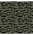 Weapon seamless background vector image vector image