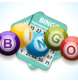 bingo balls and card on a white background vector image