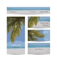Business cards design tropical island vector image vector image