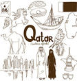Collection of Qatar icons vector image