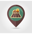 Tractor field flat mapping pin icon vector image
