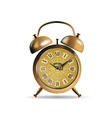 clock antique gold vector image