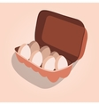 Egg Container vector image
