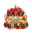halloween with skulls vector image