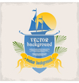 logo for the marine theme vector image