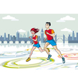 London Marathon Runners vector image