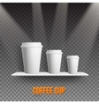Realistic Coffee Cup Takeout Template Set vector image