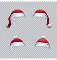 Santa red hat template vector image