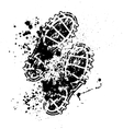 Shoes print ink blots vector image