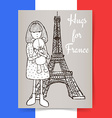 Sketch condolences for France poster vector image