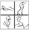 Sketch of woman torso vector image